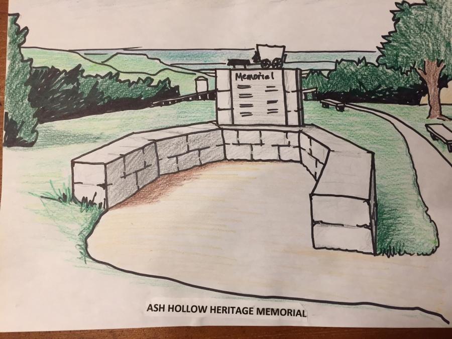 drawing of heritage memorial plaza